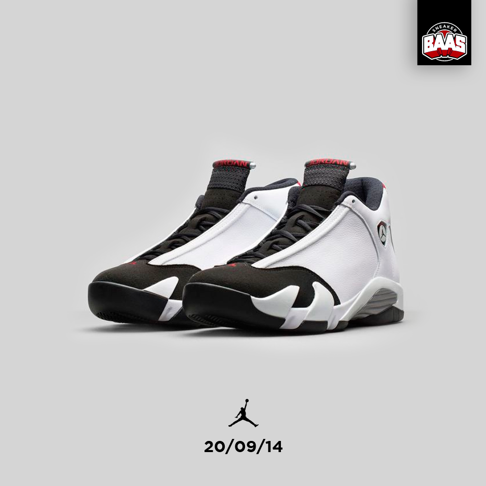 "Air Jordan 14 ""Black Toe"" | Release: 20.09.14 AT 09:00AM | www.sneakerbaas.nl | #air #jordan #Black #Baasbovenbaas"