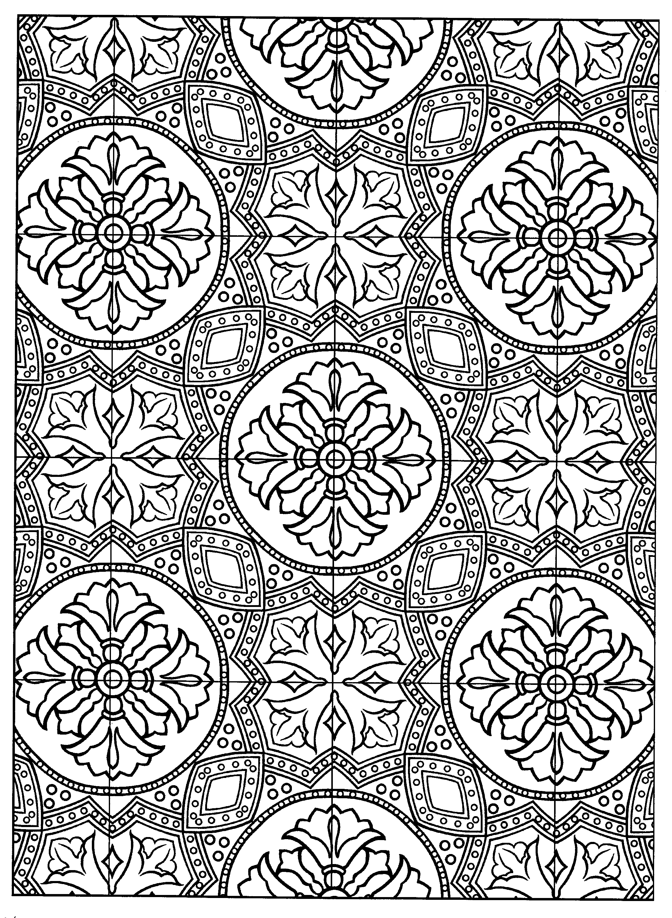 Decorative Tile Patterns Page 14 From Decorative Tile Designsmarty Noble  Coloring