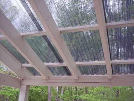 Grillzebo Gazebo Pergola Suntuf Corrugated Roof Panels Palram Polycarbonate  Semi Free Standing Broil Mate