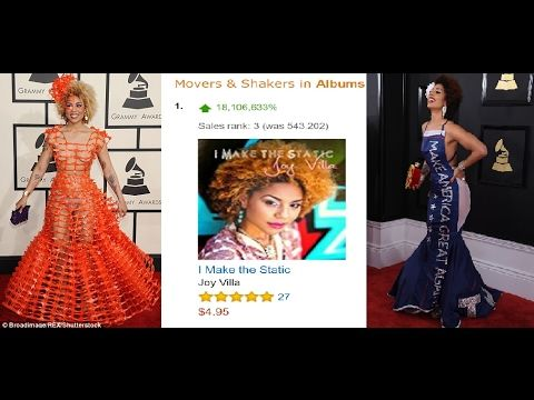 Joy Villa Wins Fans Hearts With Trump Dress At Grammys Her Album Outsell...