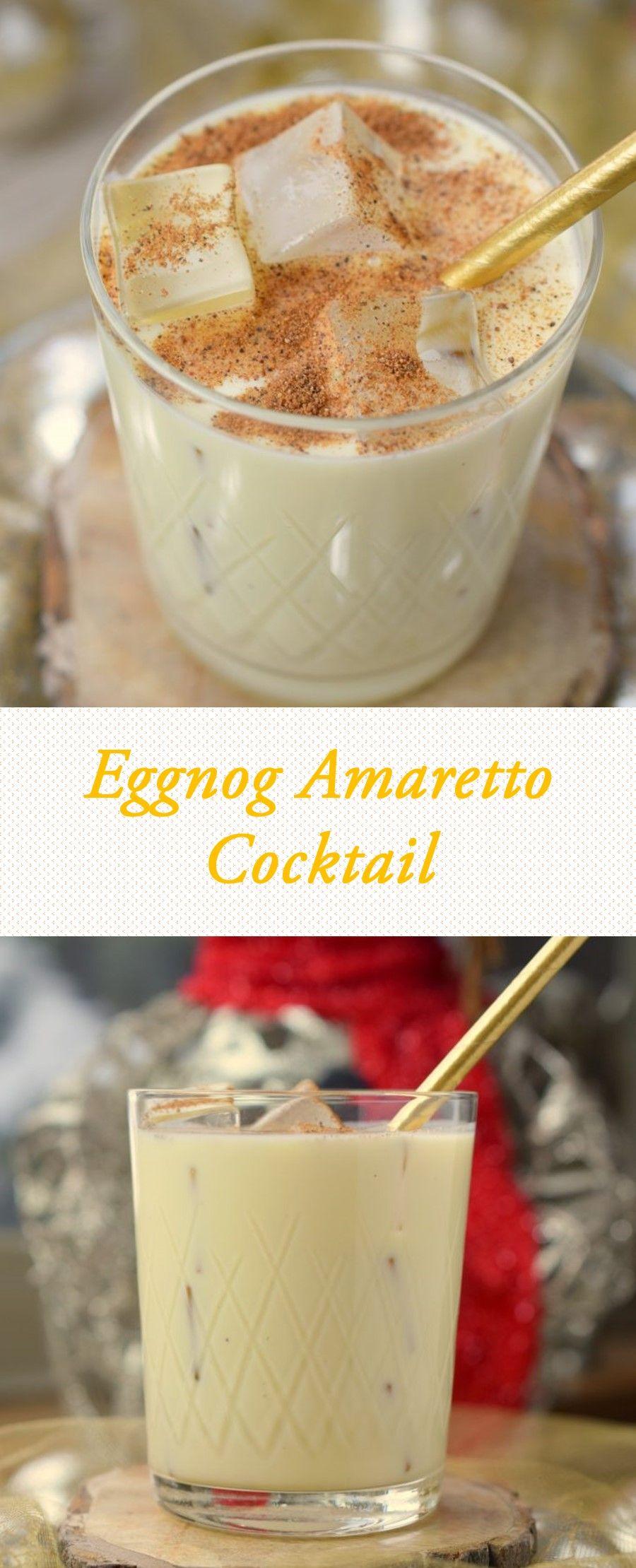 Eggnog Amaretto Cocktail | Eggnog drinks Drinks alcohol ...