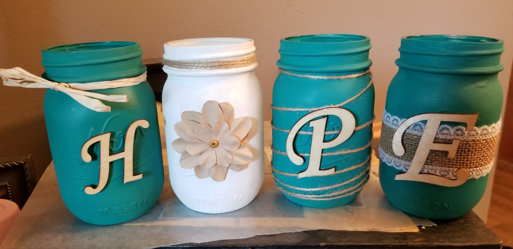 Ovarian Cancer Awareness Mason Jars