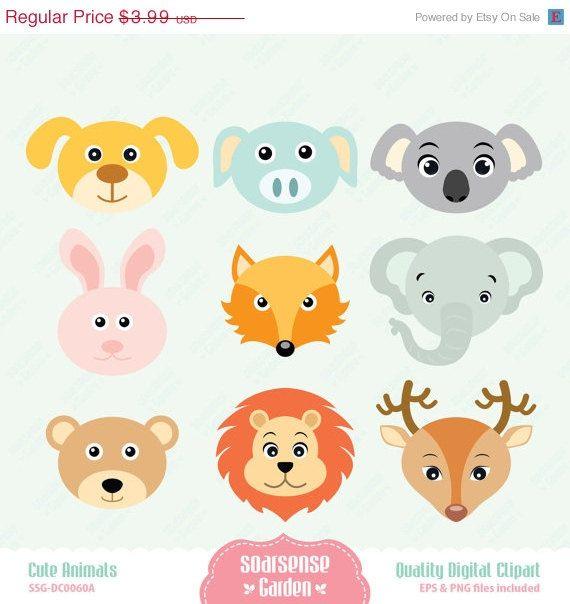Cute Animals Digital Clipart Stuffed Animal Patterns Clip Art Digital Clip Art