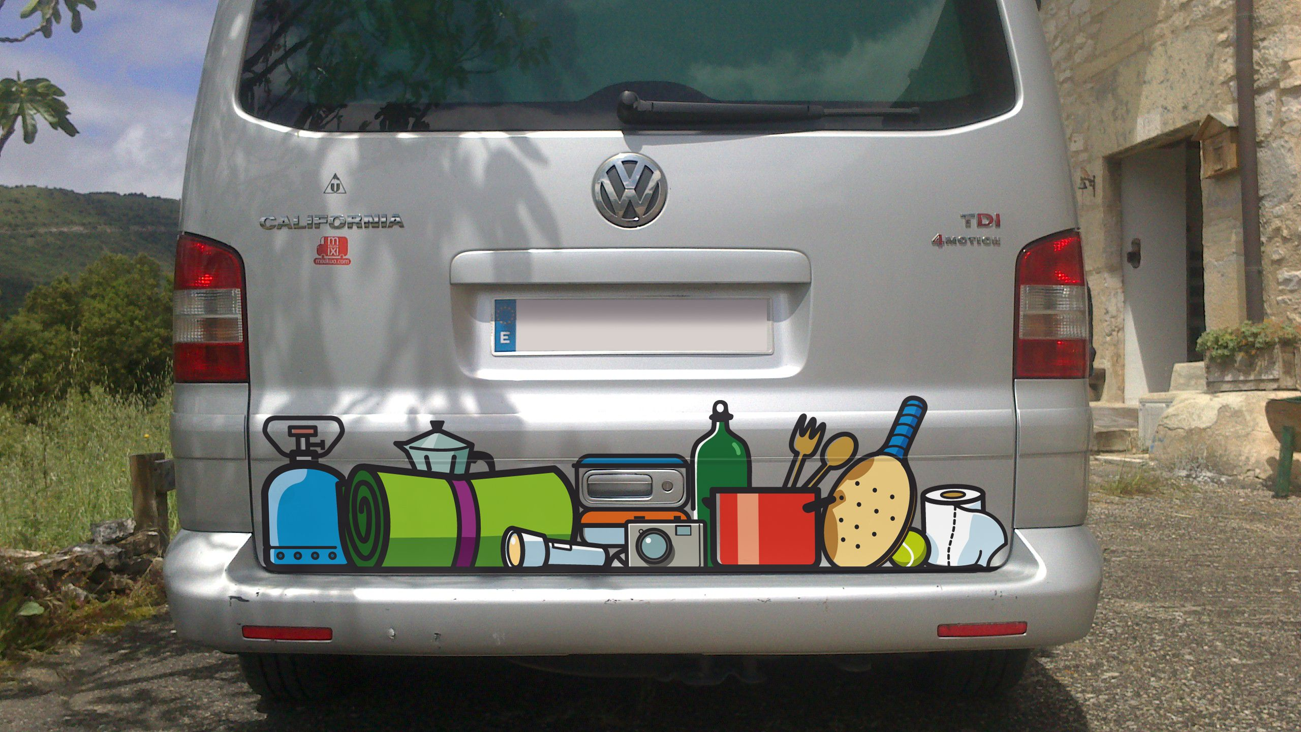 VW California T5 Campthings Color decal