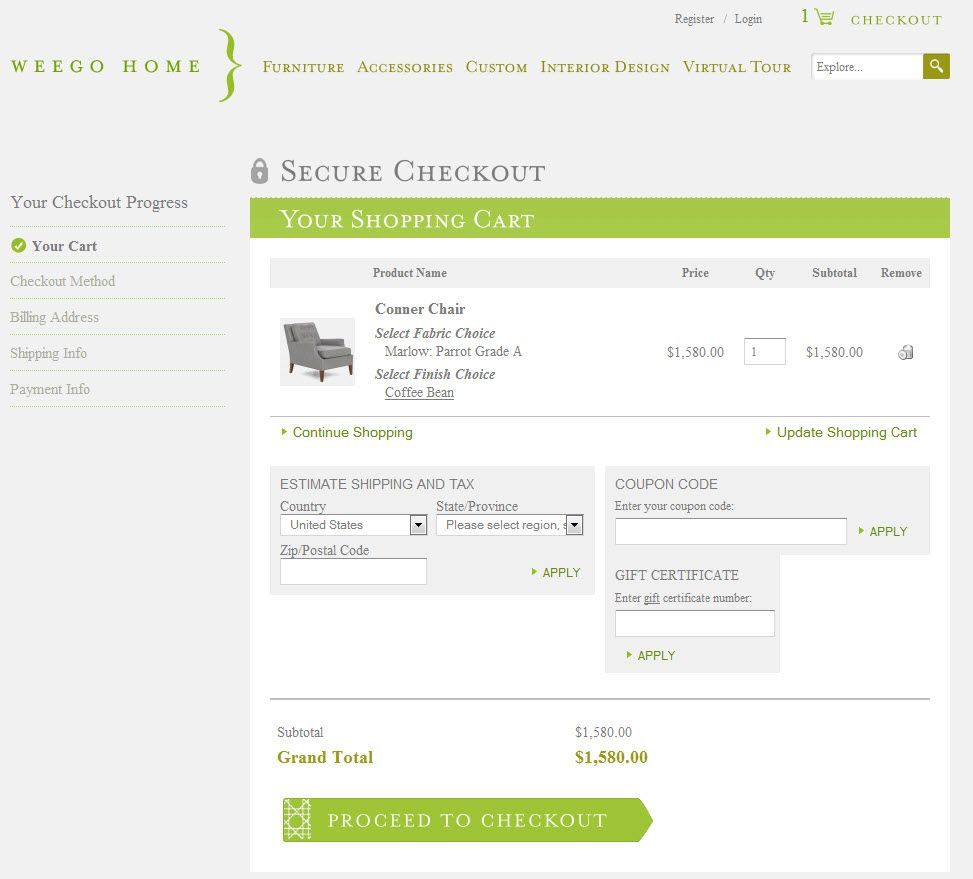 The Checkout Process Is Fun Simple And Easy To Complete Ecommerce Web Design Interior Design Virtual Web Design Examples