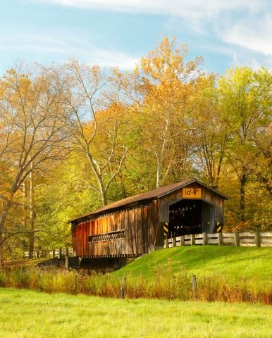 Take a trip back in time to historic covered bridges in counties throughout the Midwest.