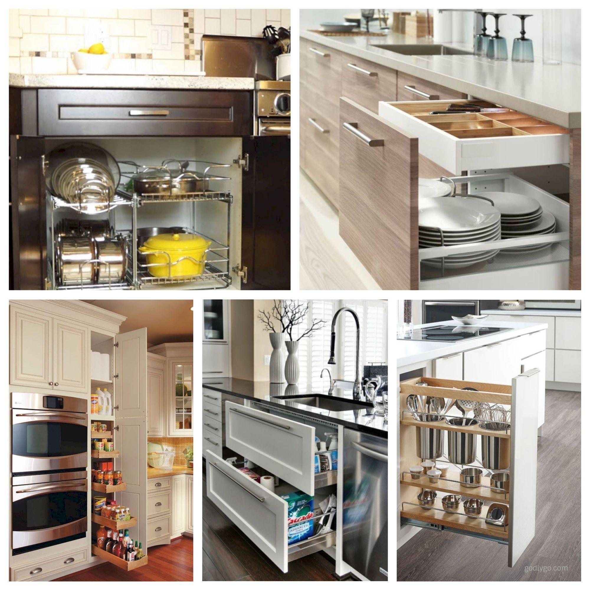44 Smart Kitchen Cabinet Organization Ideas Godiygo Com Smart Kitchen Apartment Kitchen Organization Small Kitchen Cabinets