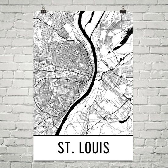 St Louis Art St Louis Map St Louis Missouri Art Poster St