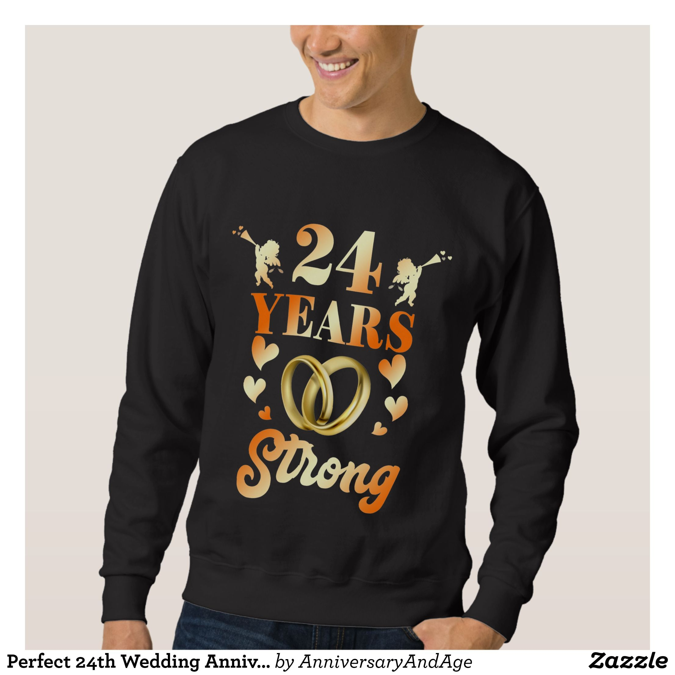 Perfect 24th Wedding Anniversary Gift For Couple Sweatshirt 24th