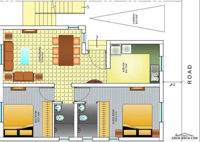 خريطة بيت صغير المساحه غرفتين 1 ماستر Room Divider Home Decor Decor