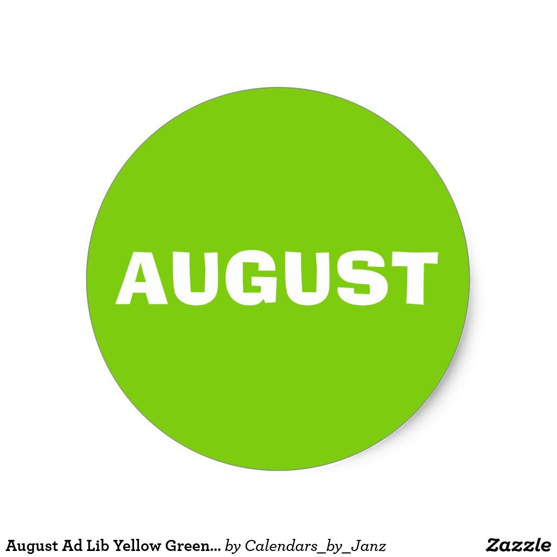 August Ad Lib Yellow Green Sticker By Janz