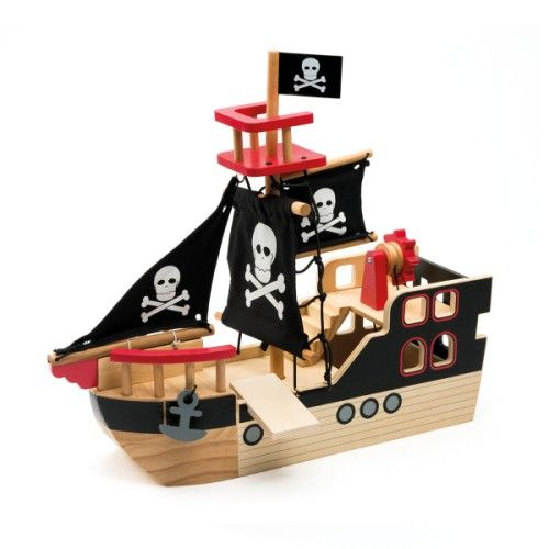bateau de pirate en bois oxybul pour enfant de 3 ans 8. Black Bedroom Furniture Sets. Home Design Ideas