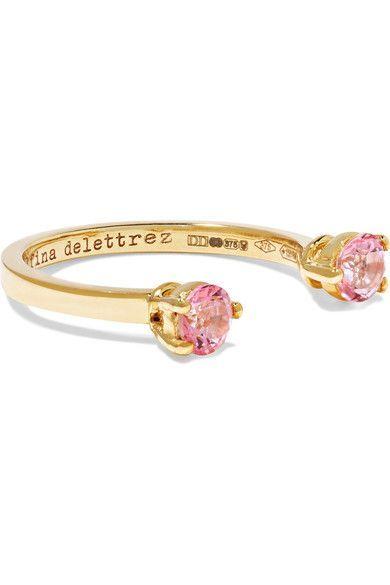 9-karat Gold Multi-stone Cuff - one size Delfina Delettrez GnST2xUyJR