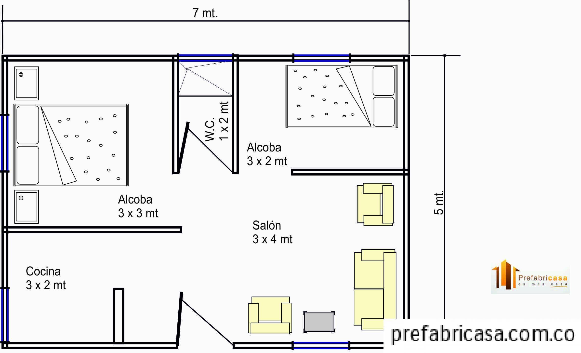 Planos vivienda 40m2 buscar con google apartamento for Planos de casas 80 mts2
