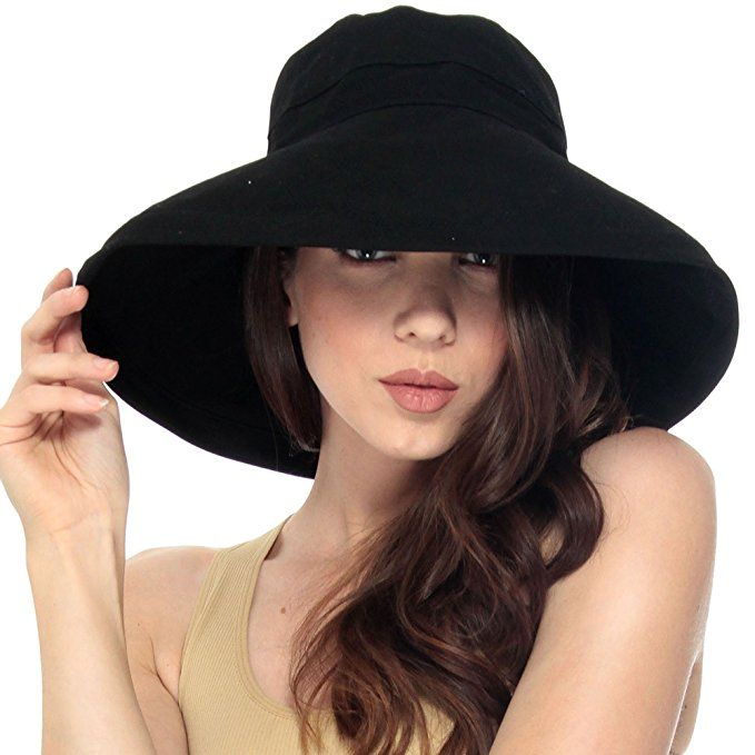 3b82983a3cf Simplicity Summer Solid Cotton Bucket Hat with Big Fold-Up Brim ...