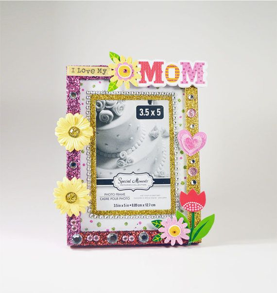I Love Mom Picture Frame Mother\'s Day Gift, Sympathy Gift, or in ...