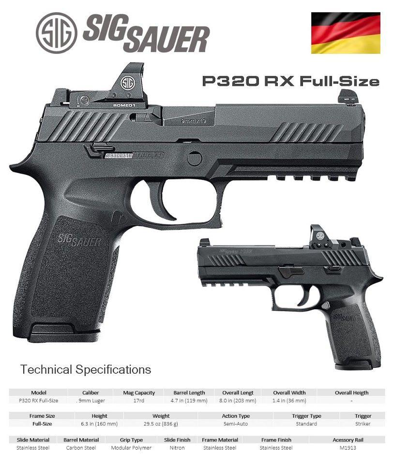 Sig Sauer - P320 RX Full-Size | guns | Guns, Hand guns
