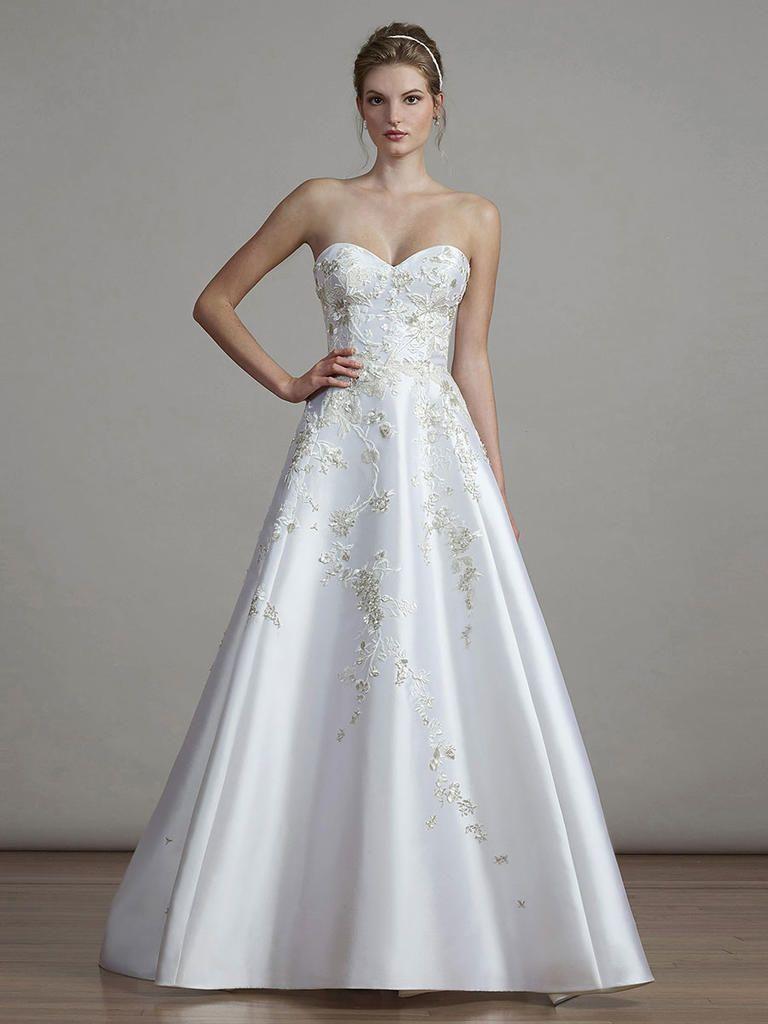 b91163965ff Satin Strapless Wedding Dress with Sweetheart Neckline