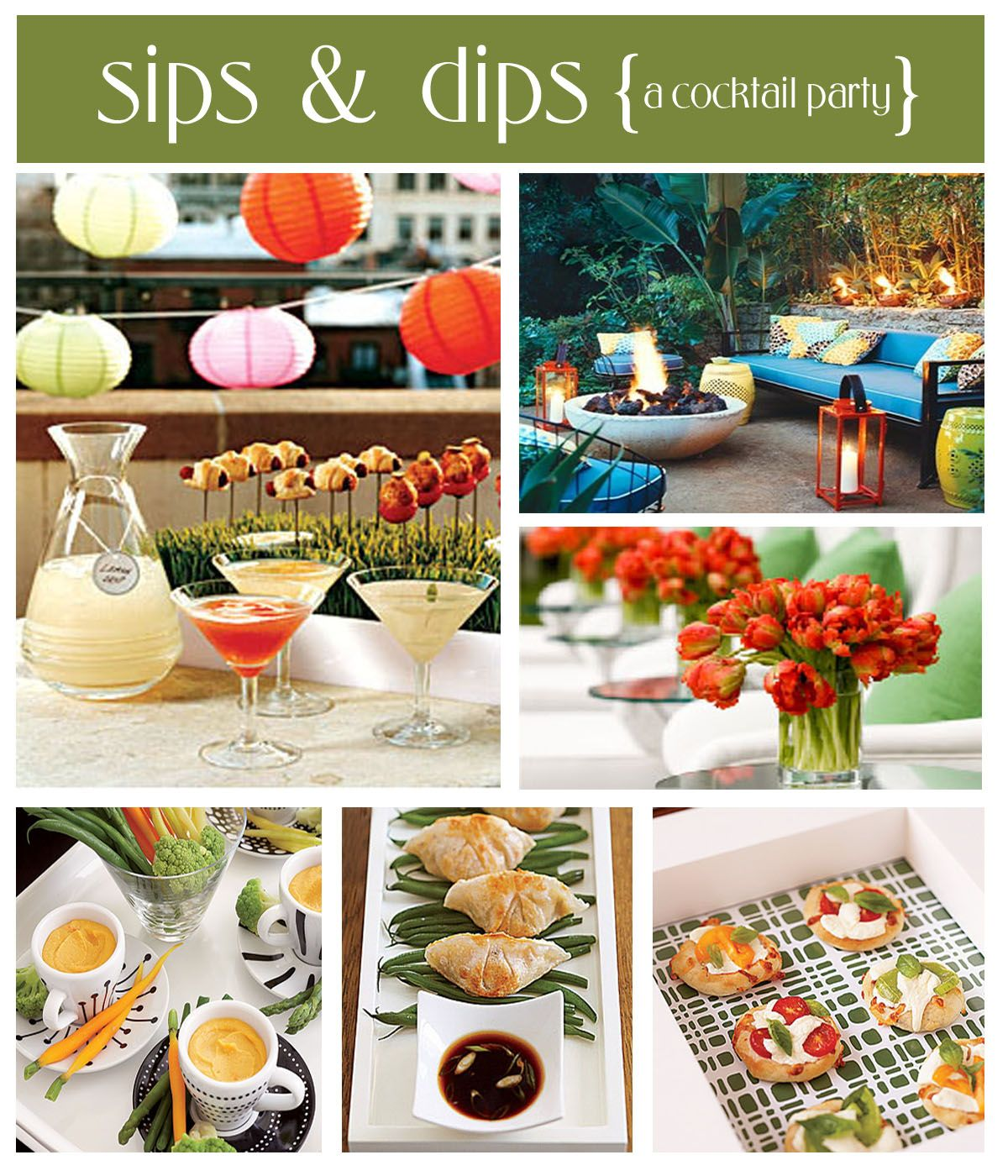 Lovely Cocktail Parties Ideas Part - 8: Sips U0026 Dips ( A Cocktail Party ) Lots Of Ideas For Your Next Party