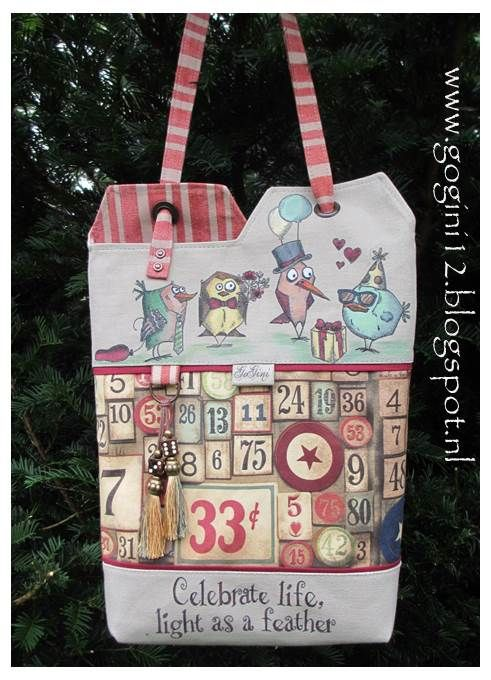 FREE tutorial This tote is made by GoGini Totes you can find us at www.gogini12.blogspot.nland on facebook: GoGini Totes