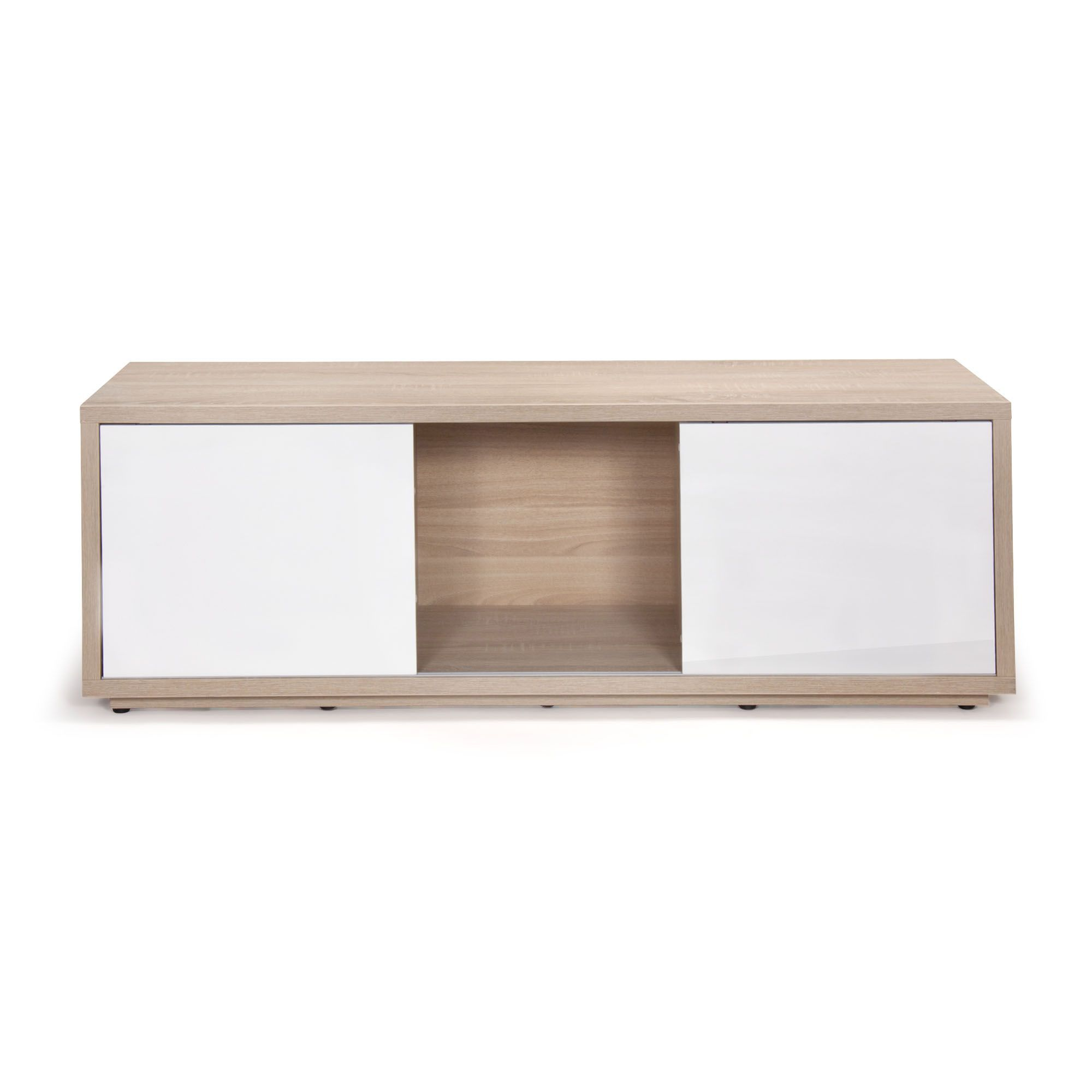 Meuble Tv Design Scandinave Chene Blanc Checker Meuble Meuble