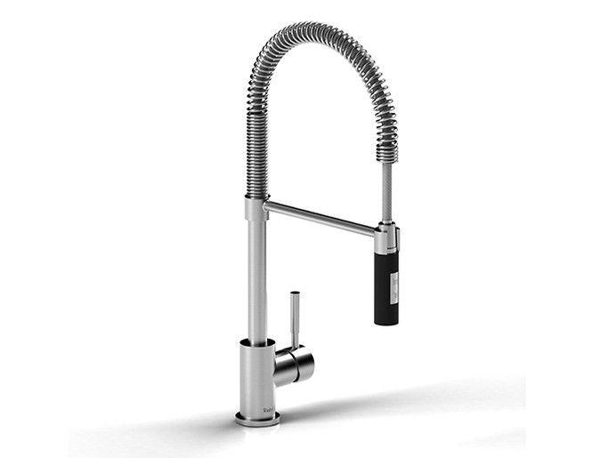 Riobel BI201CBK Bistro Kitchen Faucet With Spray – Décor Faucets ...