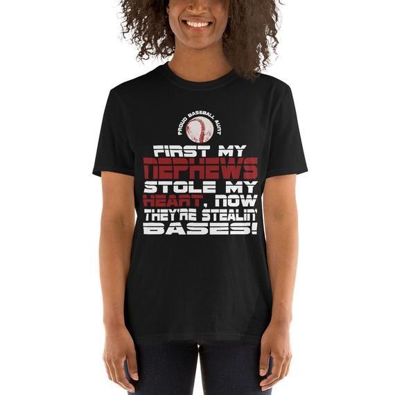 Baseball Aunt, Proud of My Baseball Nephews Shirt, Baseball Aunt, Baseball Aunt Shirt, Aunt Baseball, Baseball Aunt Tshirt, Nephews Baseball #auntshirts