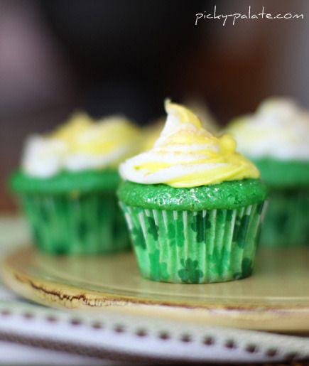 Lucky Green Velvet Fairy Cakes, they look so cute :)