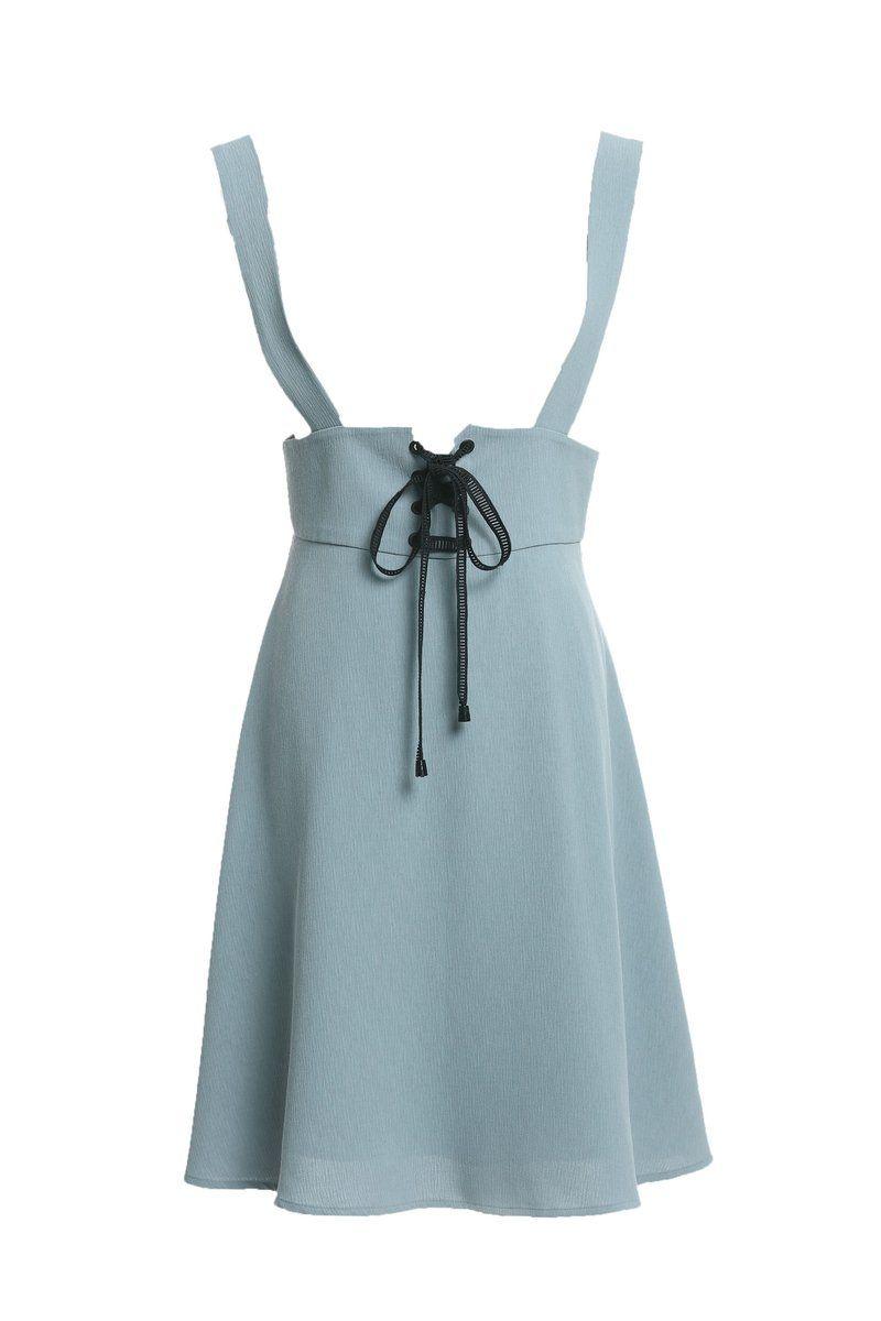 172 Cm 50 Kg lace-up suspender a-line skirt | jardineras