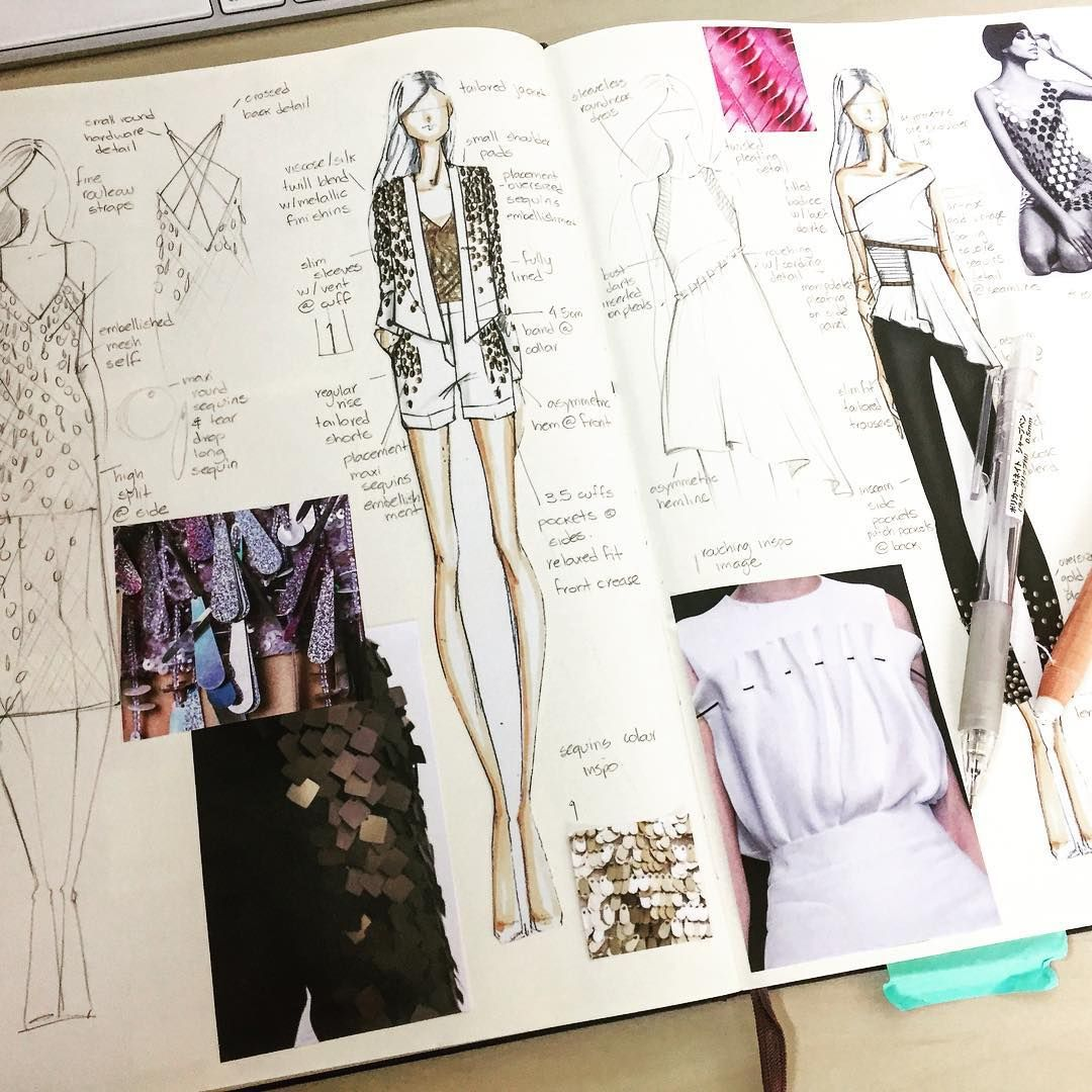 "Photo of B DESIGN STUDIO on Instagram: ""Scketchbooking #sketch #sketchbook #designtime #designing #croqui #caderno #moda #desenho #adoro #mypassion #copic #inspiration…"""