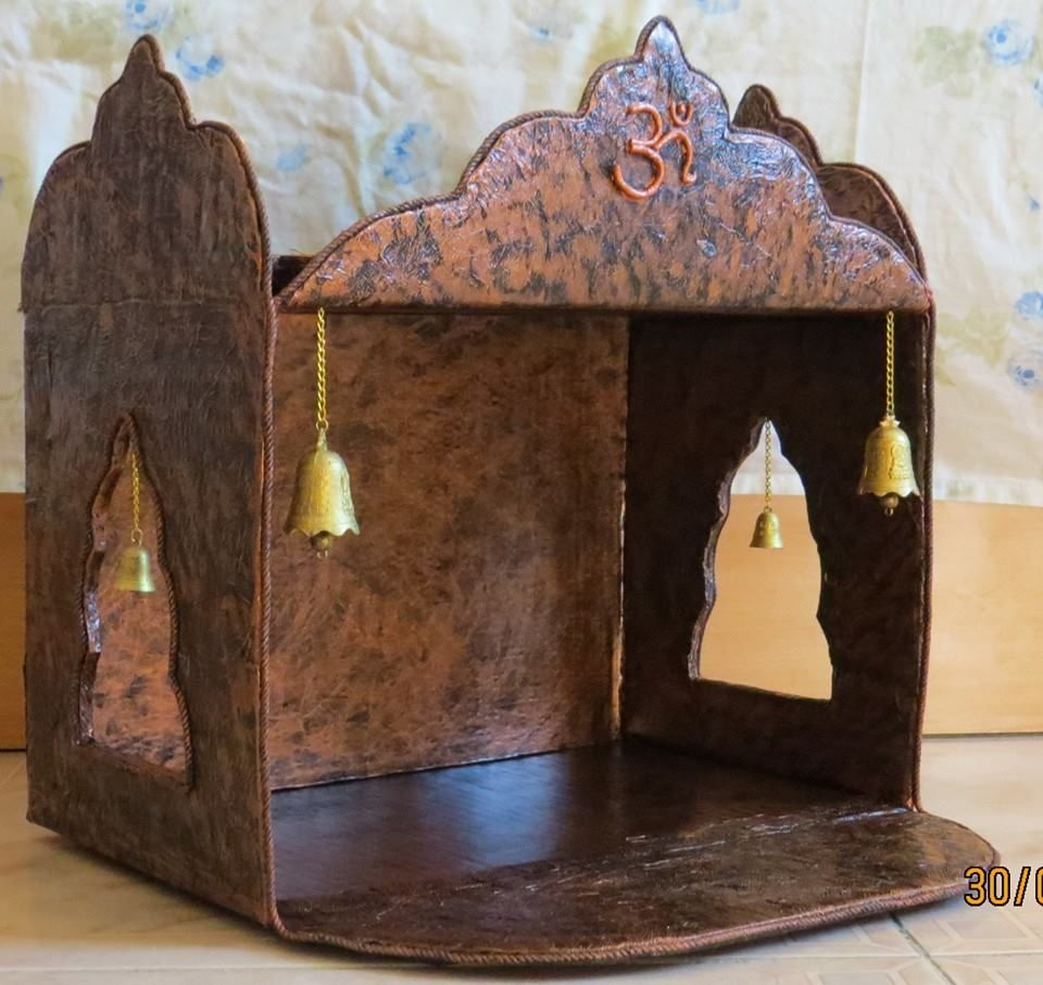Pooja mandir from a carton ganesha diwali and decoration for How to make paper temple
