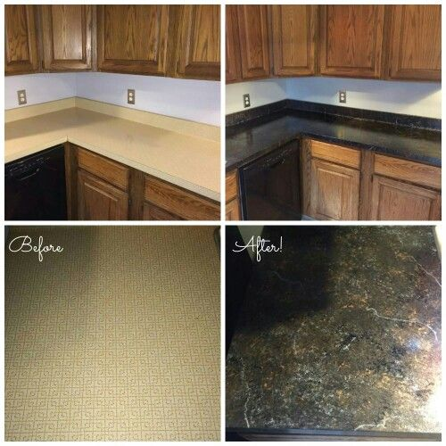 Giani Granite Countertop Paint Bombay Black Kit Plus Chocolate