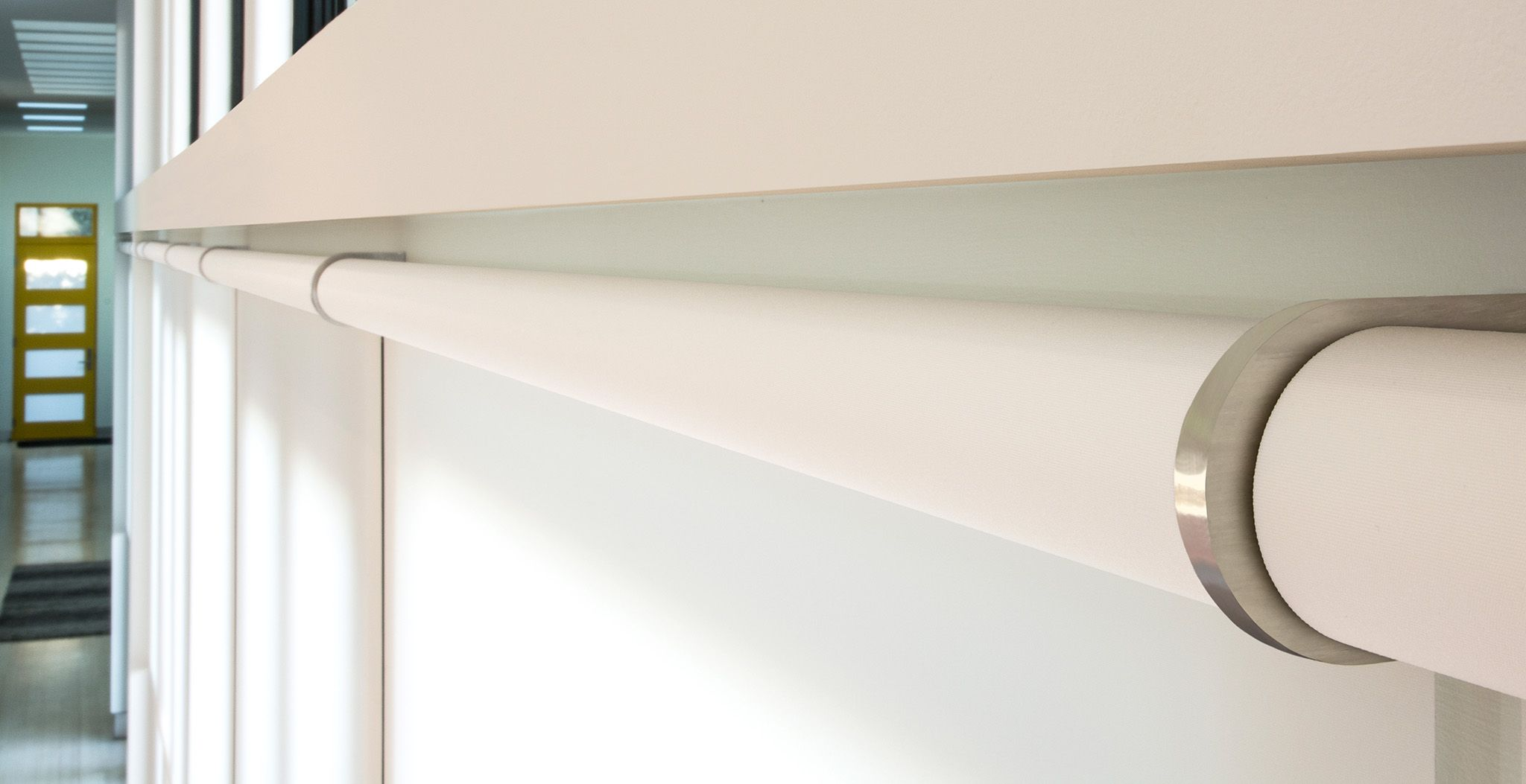 Shades That Hide In Plain Sight A Close Up View J Geiger Shading Technology Motorized Window Shades
