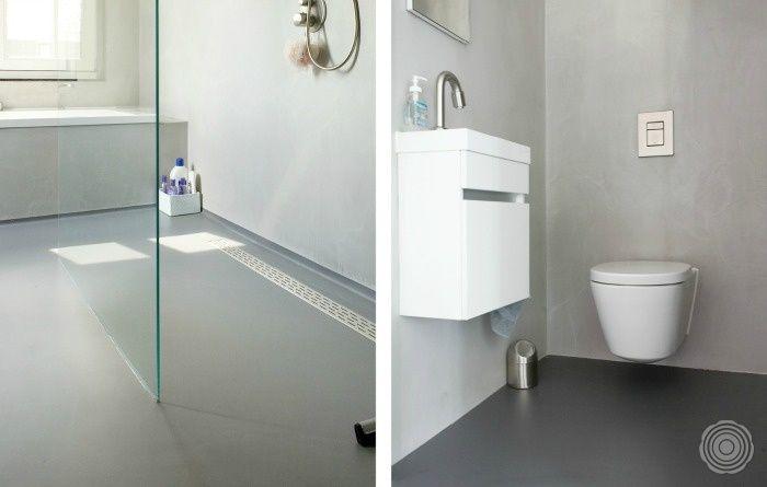 Badkamer Tegels Kalk : Zonder schimmels en naden de senso gietvloer in uw badkamer