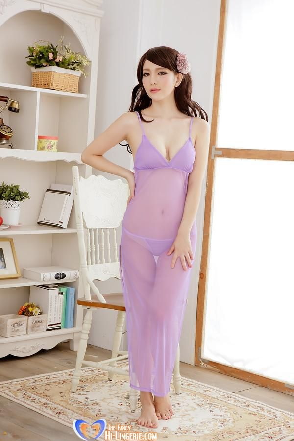 Aliexpress.com   Buy Free Shipping Attractive See Through Side open Abaya  Long Nightwear set with G String for Women 5 Colors from Reliable Robe  suppliers ... ca70311b4