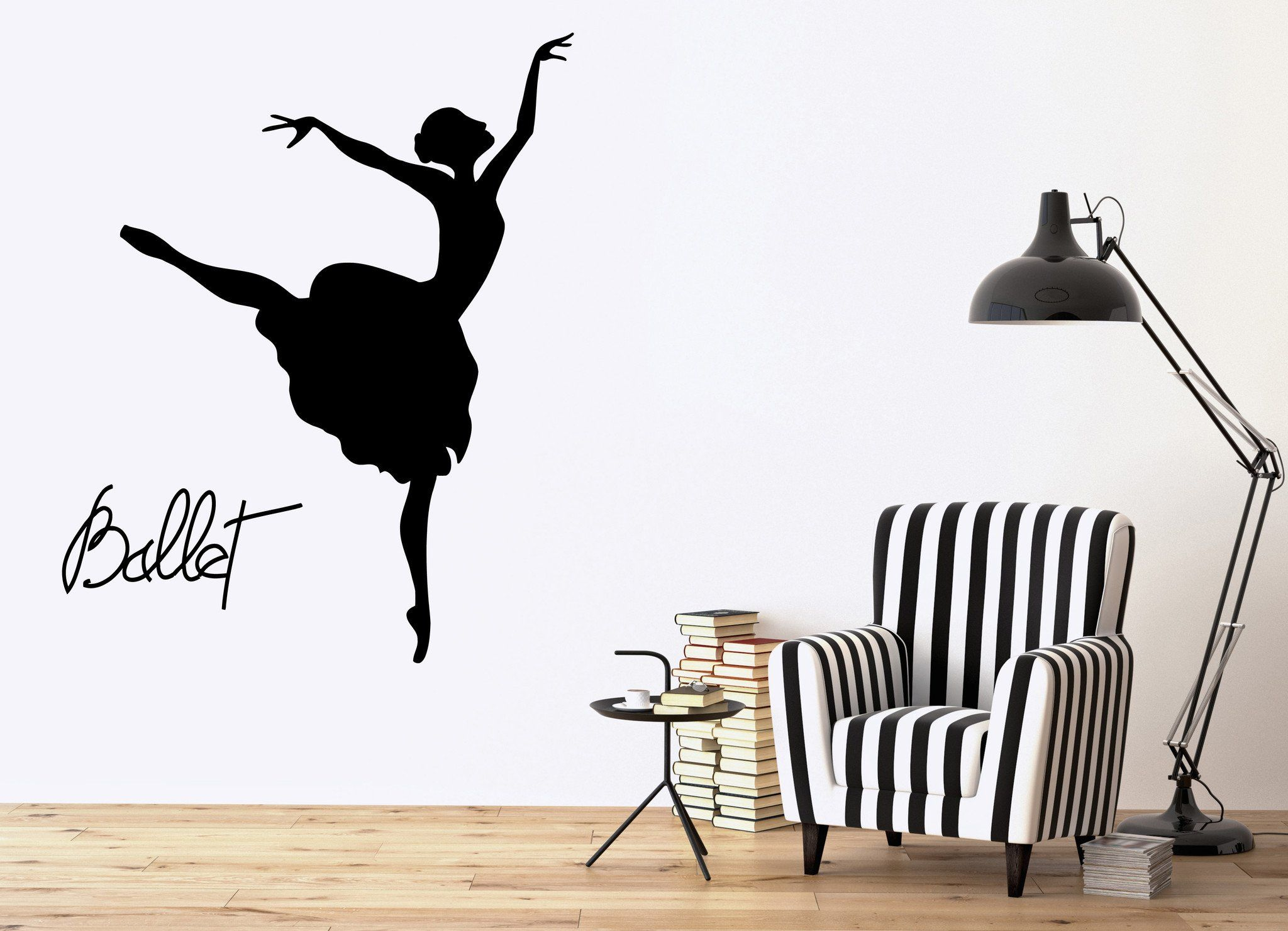 Vinyl decal ballet dancer wall stickers dance decor opera and ballet theatre dancing passion unique gift ig2483