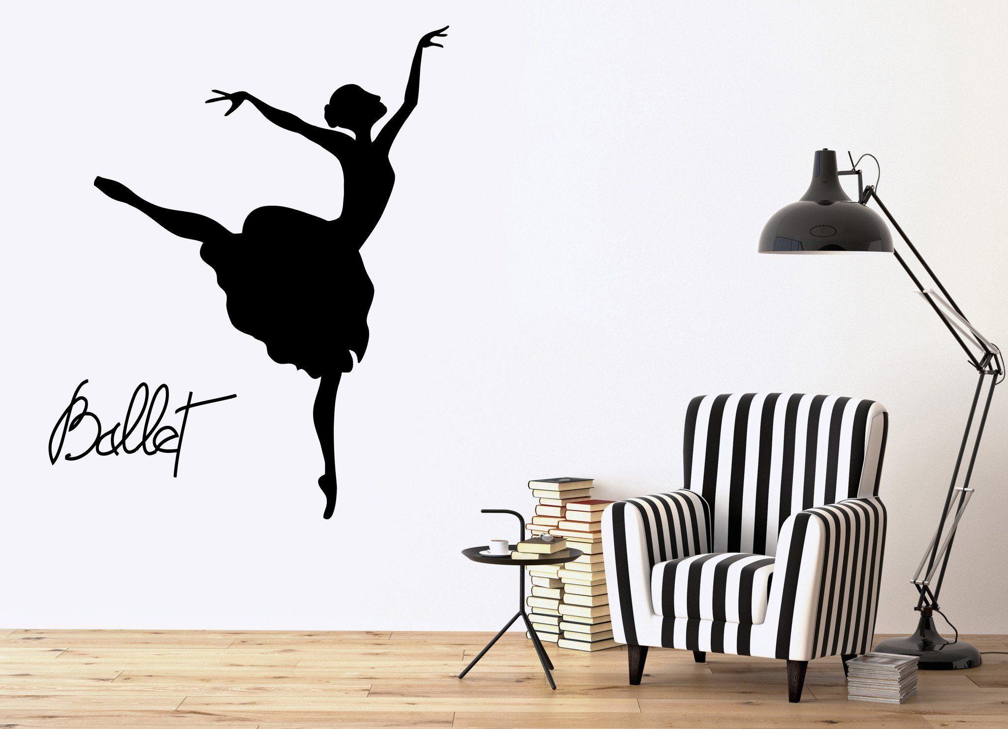 Home & Garden Strong-Willed New Design Ballet Dance Wall Sticker Pvc Home Decor Ballerina Wall Decal Girls Bedroom Home Decor Modern Outstanding Features