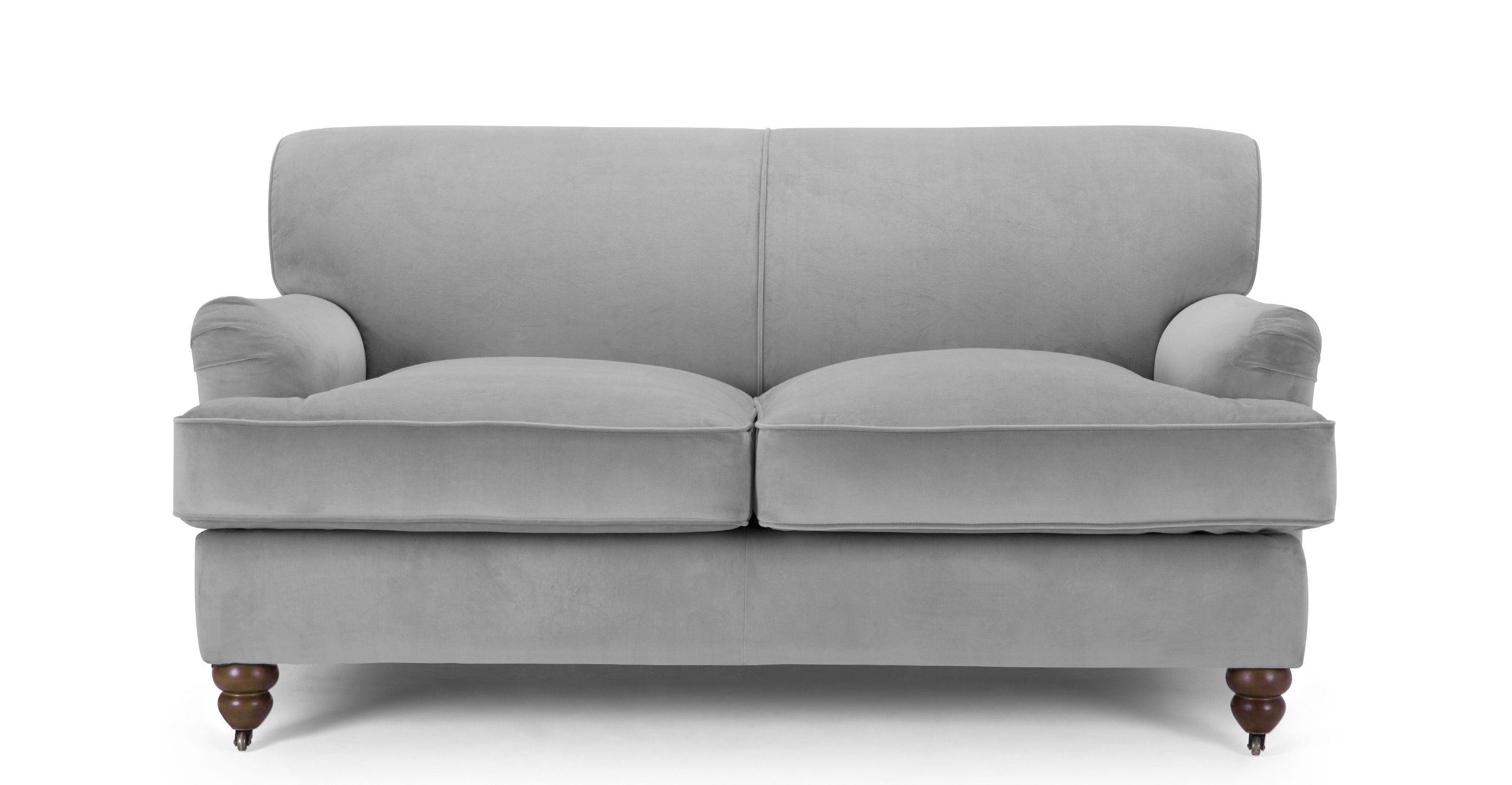 Orson 2 Seater Sofa, Granite Velvet