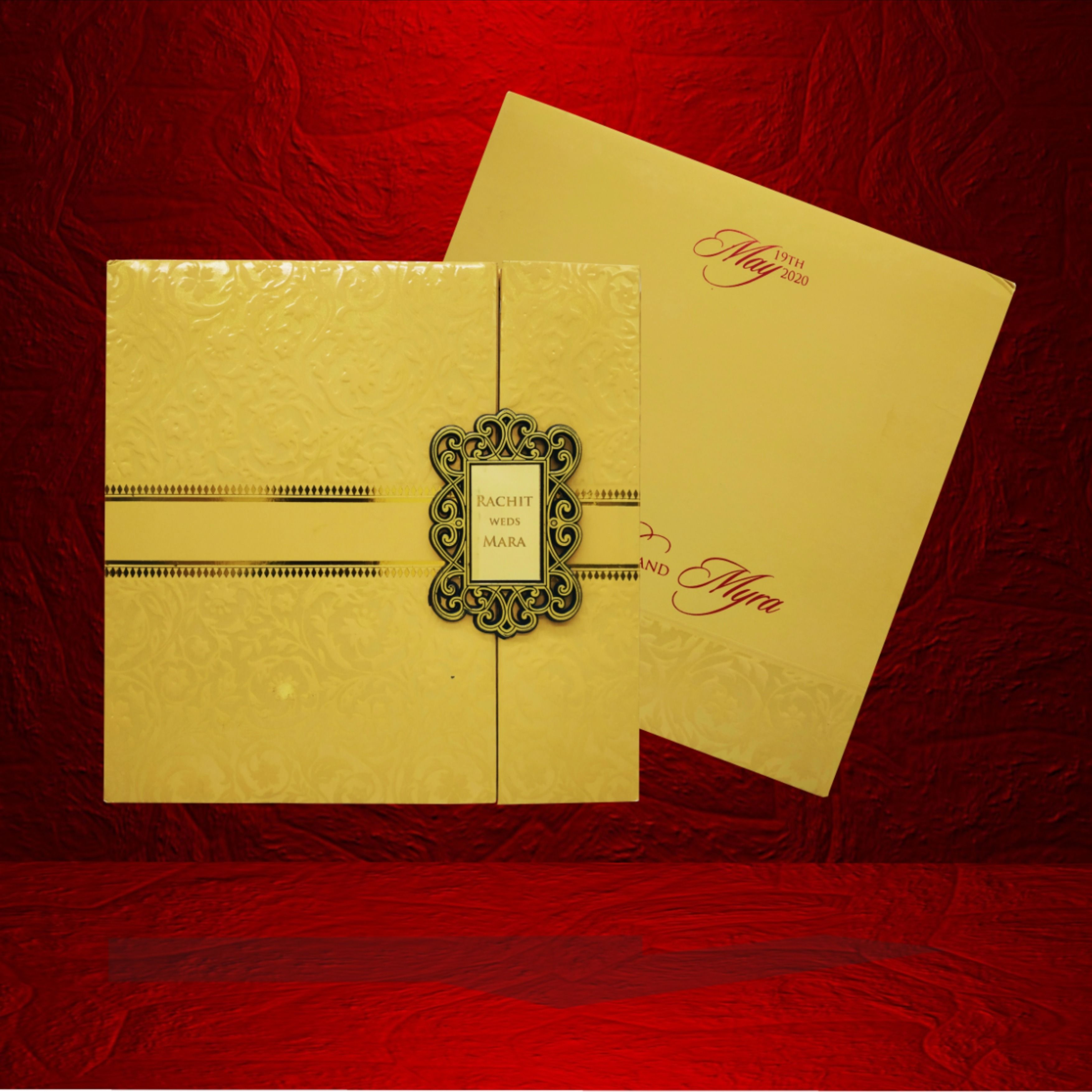 this weddingcards will surely add special charm to your