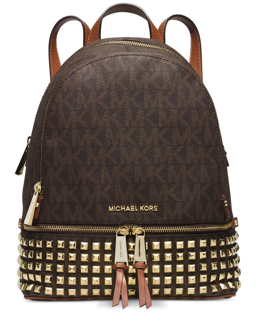 MICHAEL Michael Kors Rhea Zip Small Studded Backpack - Handbags & Accessories - Macy's
