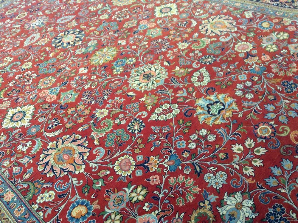 10 0 X 14 1 Red Navy Blue Sarok Oriental Area Wool Rug Handmade Ebay Oriental Persian Rugs Rugs Wool Carpet