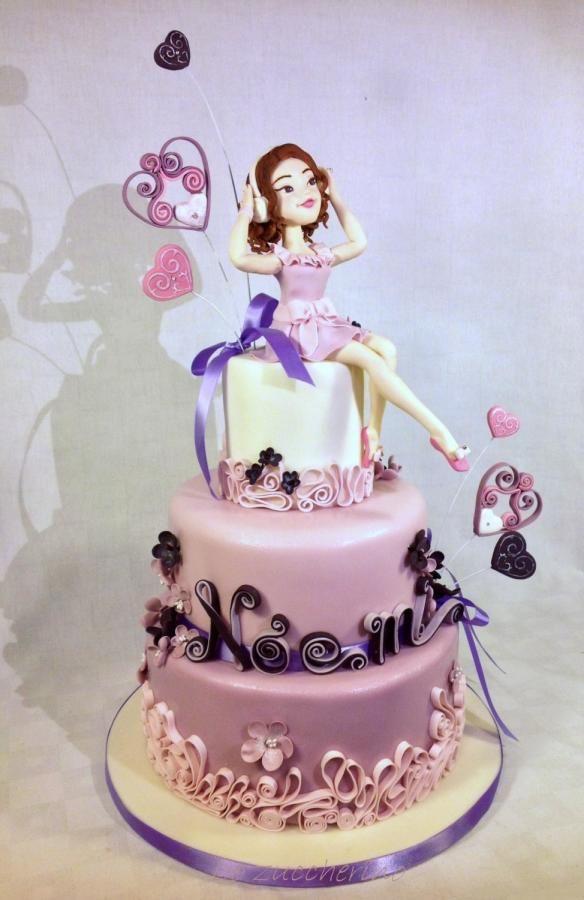 Cake Design Violetta : Violetta cake by Rossella Curti Cakes & Cake Decorating ...