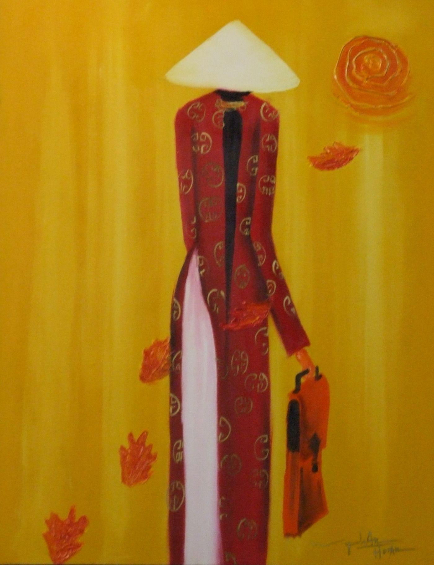 Red Ao Dai art. #MRSBITTERCHEF | All that is Ao Dai | Pinterest | Ao ...