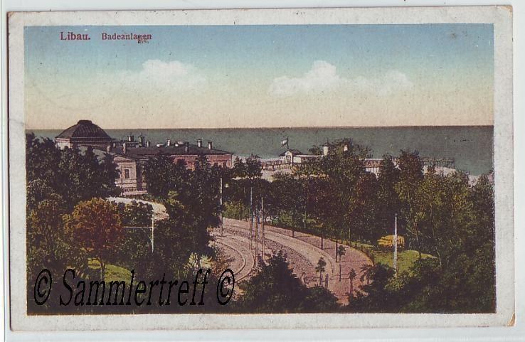 Badeanlagen Libau Lettland Kurland Liepāja 1916 coloriert