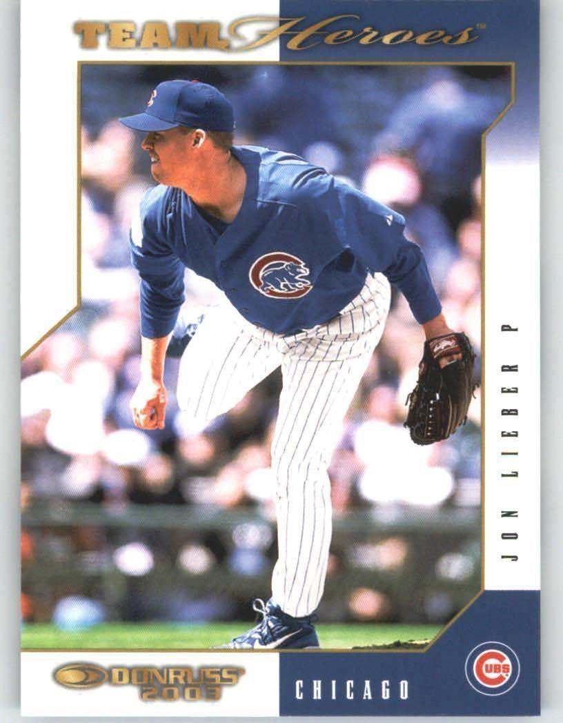 2003 Donruss Team Heroes 100 Jon Lieber Chicago Cubs