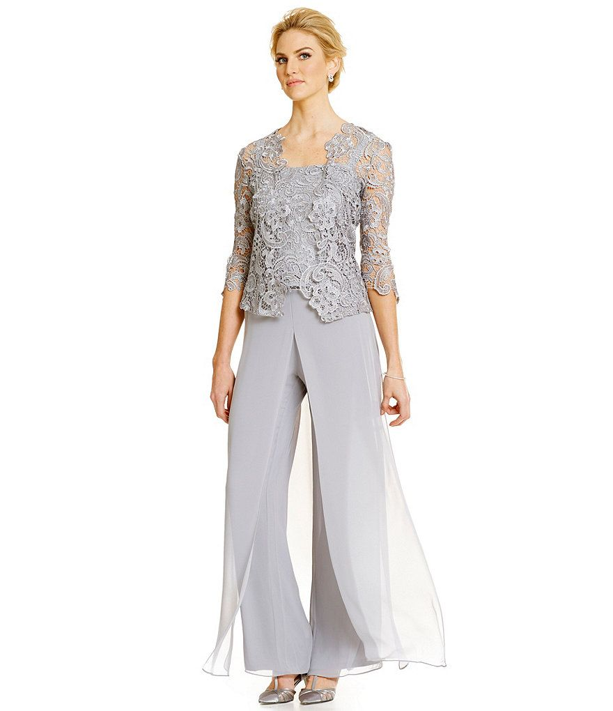 Emma Street Lace Chiffon Pant Set | Wedding | Pinterest | Chiffon ...