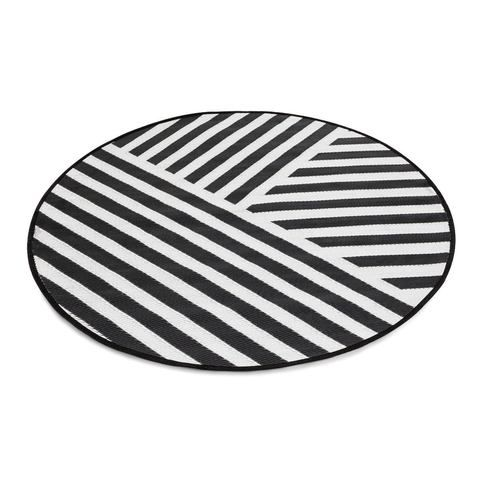 Round Striped Outdoor Rughome U0026 Co