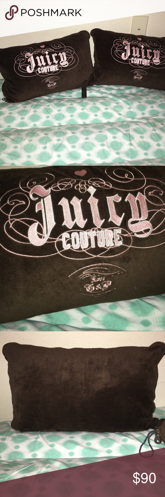 Juicy Couture Pillow Cases NWOT! No damage. AUTHENTIC! OPEN TO OFFERS! No trades on this item. Juicy Couture Accessories