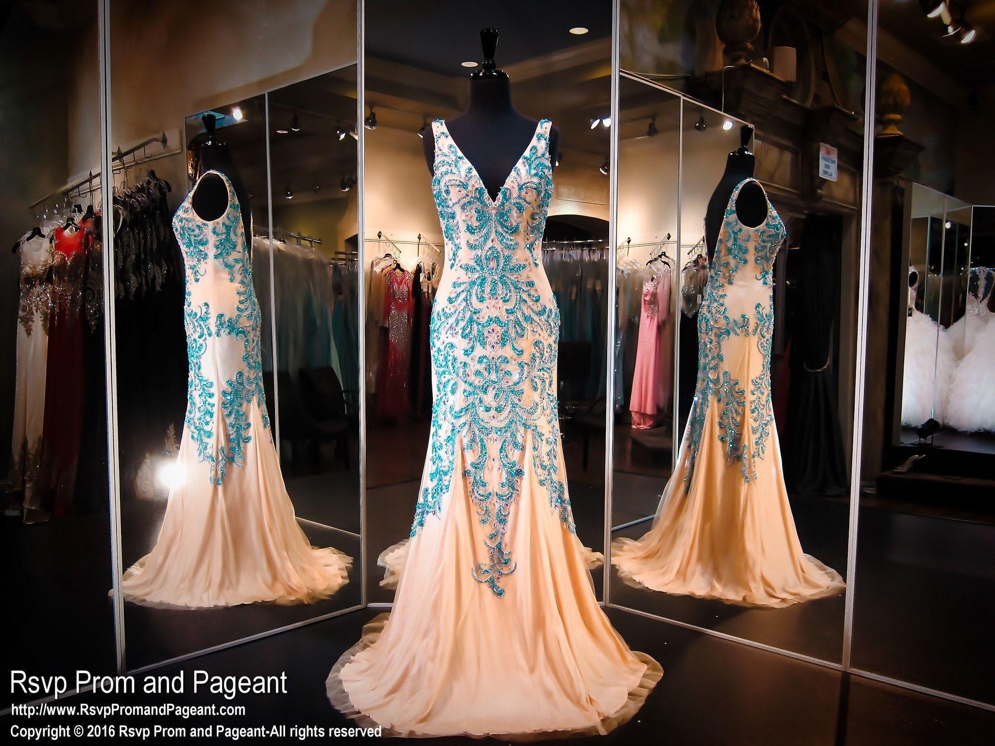 Turquoise nude mermaid prom dress mermaid prom and nude
