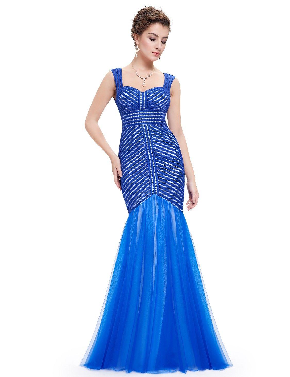 Meerjungfrau Luxus Abendkleid in Blau | Abendkleider 2018 - günstig ...